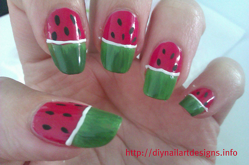 watermelon nails photo