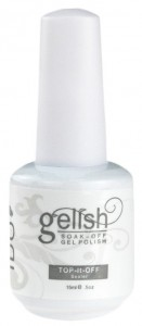 Bottle of Gelish Clear Top Coat