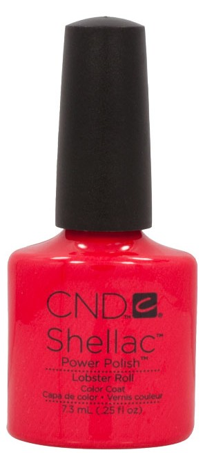 Lobster Roll Red Orange Shellac Nail Power Polish Bottle